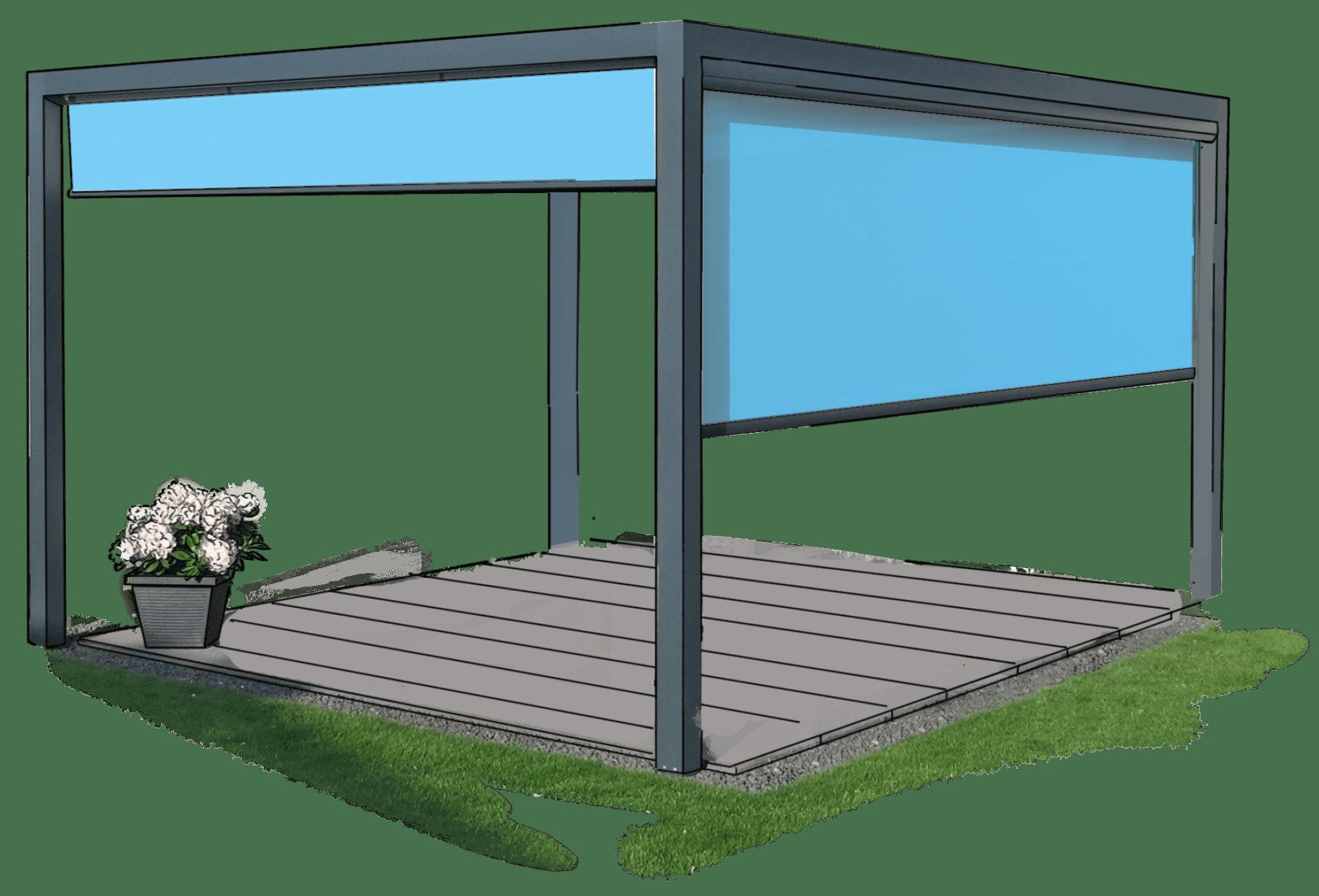 Zeichnung von Zanker Velero - Lounge Beschattung