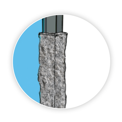 Granit Materialauswahl für Velero Pfosten