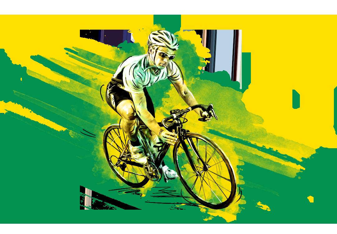 Radfahrer Sponsor von Sport-Vereinen